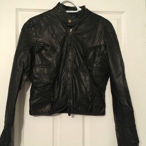 Women's Max Studio Black Faux Leather Jacket